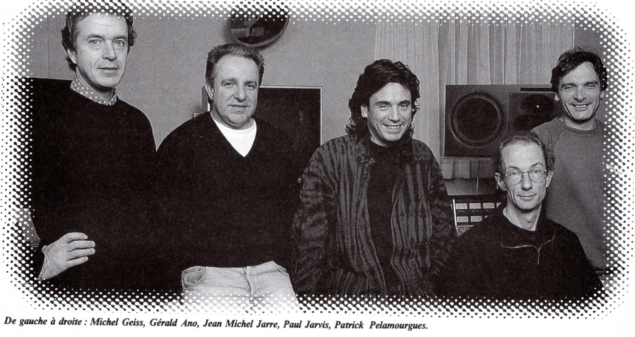 At Jean-Michel's studio left to right Michel Geiss, Gerald Ano (house keeper), JMJ, Paul Jarvis