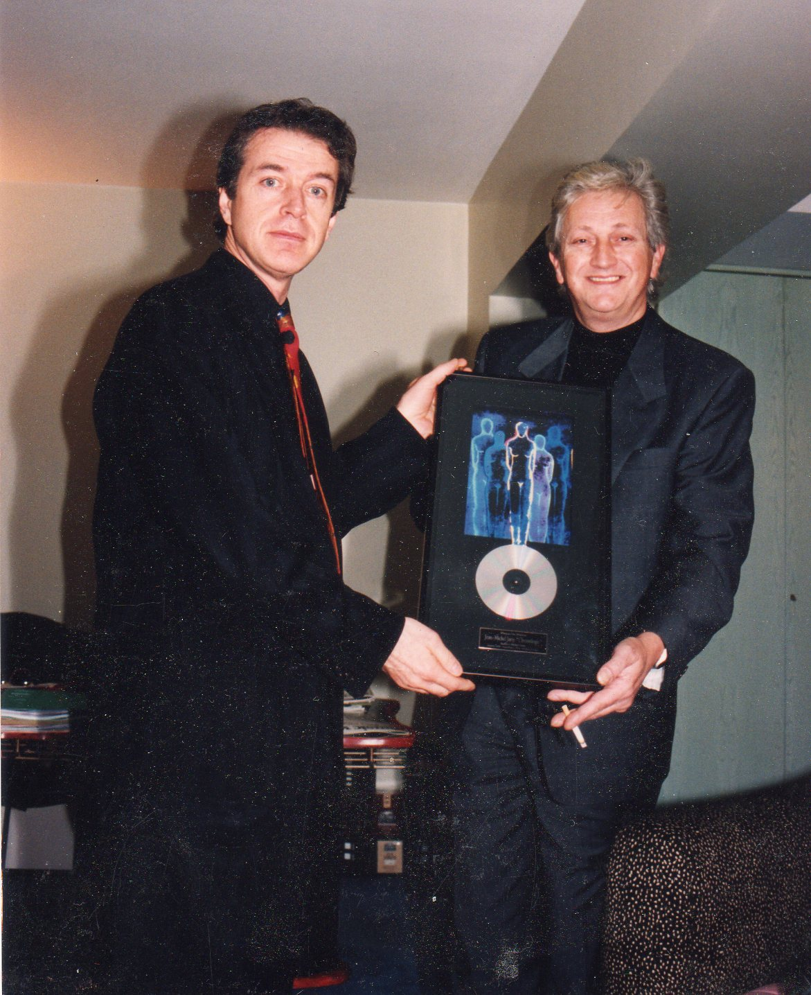 With Francis Dreyfus when I received my Platinum Record of Chronologie